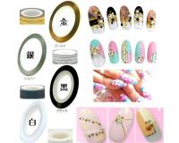 0.8mm美甲带胶线 (11色)NAIL ART STRIPING TAPE DESIGN LINES